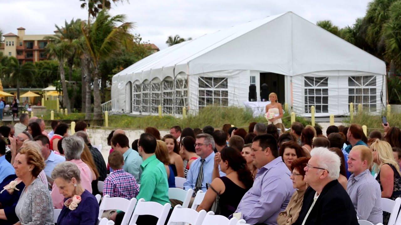 Processional Of Wedding At Sirata Beach Resort