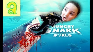 HUNGRY SHARK WORLD ЛУЧШАЯ МОБИЛЬНАЯ ИГРА ПРО АКУЛ,ПРОХОЖДЕНИЕ И ОБЗОР,МУЛЬТИКИ #Super Arm TV