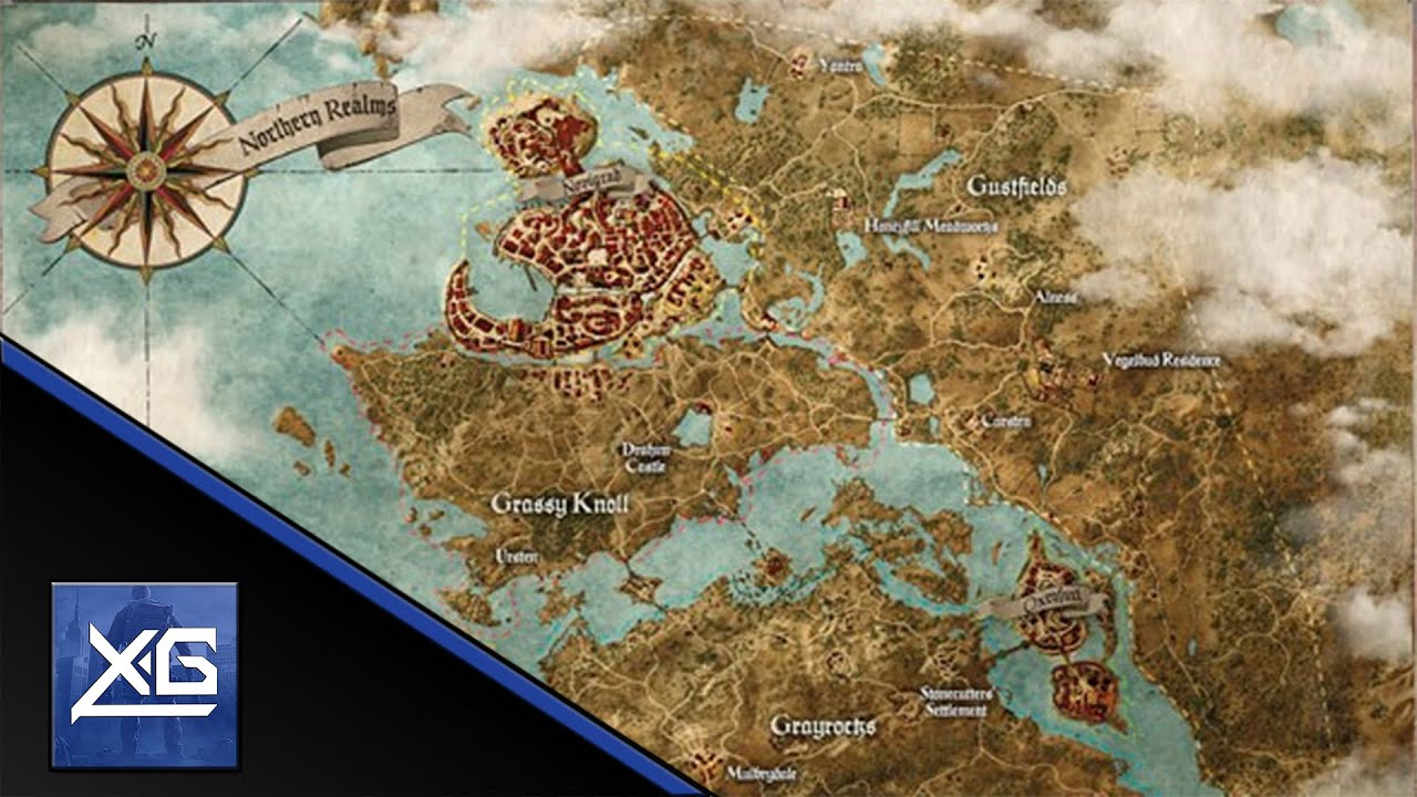 The Witcher 3: Wild Hunt Map Size (UPDATED) - YouTube