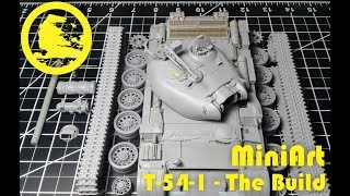 Miniart 1/35 T-54-1 full video build (part 2 - Step-by-step building)