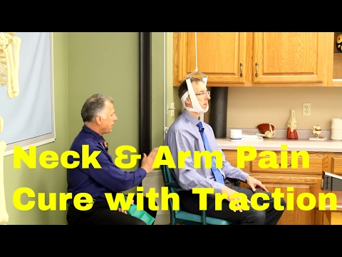 Neck & Arm Pain Cure With Traction. Over The Door & Saunders Traction Unit.