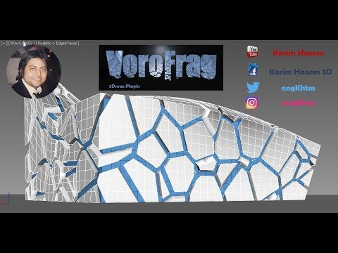 3ds max - VoroFrag Plugin - organic modeling