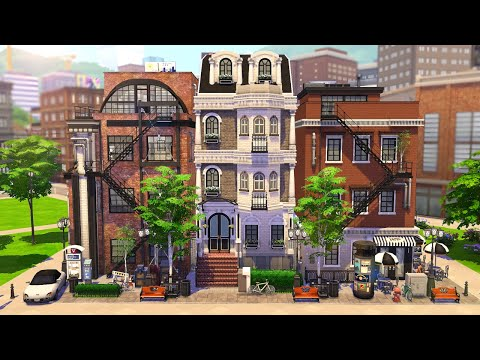 NEW YORK APARTMENTS 🌆 | THE SIMS 4 - Speed Build (NO CC)