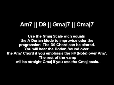 A Dorian Mode Scale - Jazzy Groovy backing and jam track