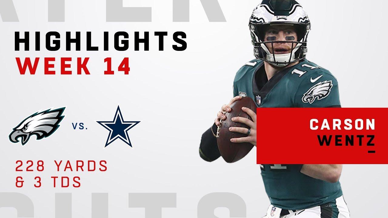 Carson Wentz Highlights vs. Cowboys
