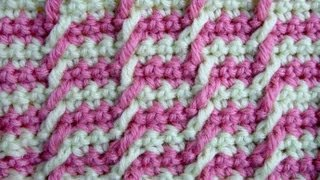 Узор вязания крючком 12 Жаккард - Сrochet pattern