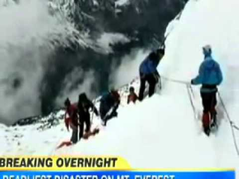 Everest Avalanche 12 Dead in Deadliest Avalanche Ever on Mount Everest