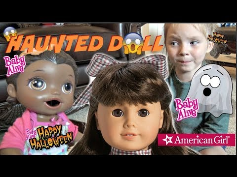 BABY ALIVE gets a HAUNTED DOLL! HALLOWEEN SKIT! The Lilly and Mommy Show. The TOYTASTIC Sisters