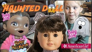BABY ALIVE gets a SPOOKY DOLL! HALLOWEEN SKIT! The Lilly and Mommy Show. The TOYTASTIC Sisters