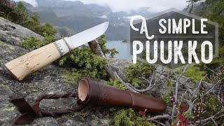 Making a simple Puukko with Saami style carvings