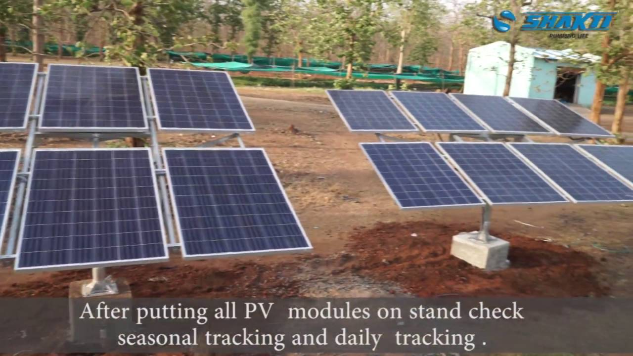 shakti solar pump installation video [ 1280 x 720 Pixel ]