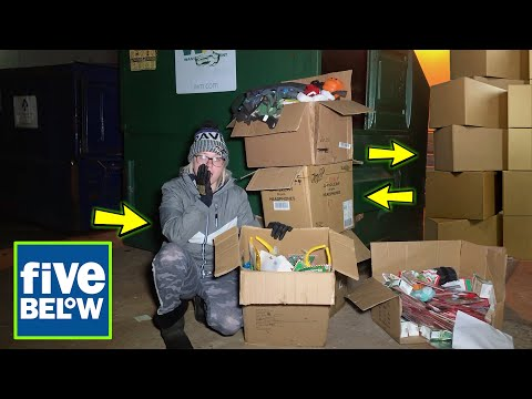FIVE BELOW EMPLOYEE'S LEFT US A MASSIVE SURPRISE! IN THEIR DUMPSTER! SOOO MANY BOXES!!