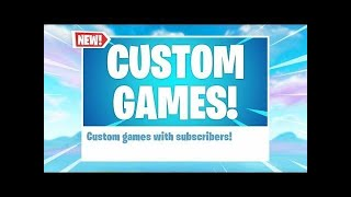 Fortnite Custom matchmaking! NAE Code bobby Road To 3k!