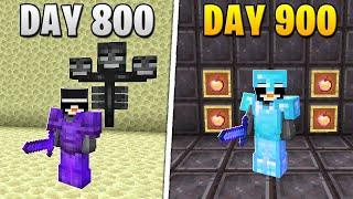 I Survived 900 Days in HARDCORE Minecraft...