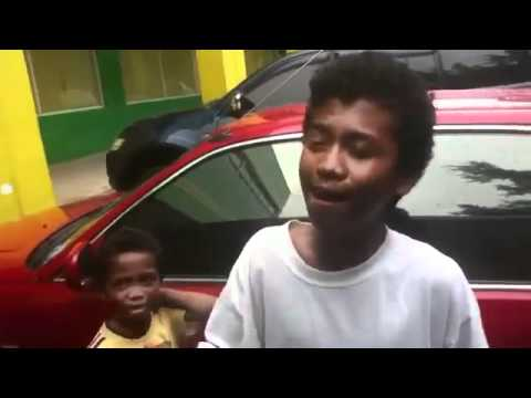 Young Filipino Street Vendor Sings
