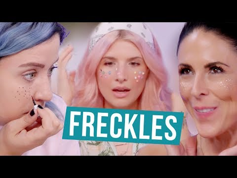 Trying Types of Fake Freckles w/ Mr. Kate (Beauty Break)