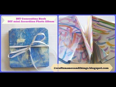How to make a Squash Book / DIY Mixed Media Concentina Book/ DIY Mini Accordion Photo Album Part 2
