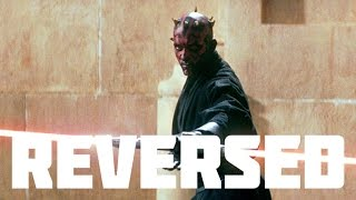 STAR WARS I: Obi Wan Kenobi and Qui Gon jin Vs. Darth Maul REVERSED