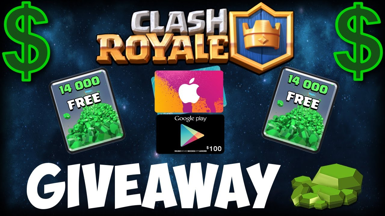 giveaway clash royale gift card
