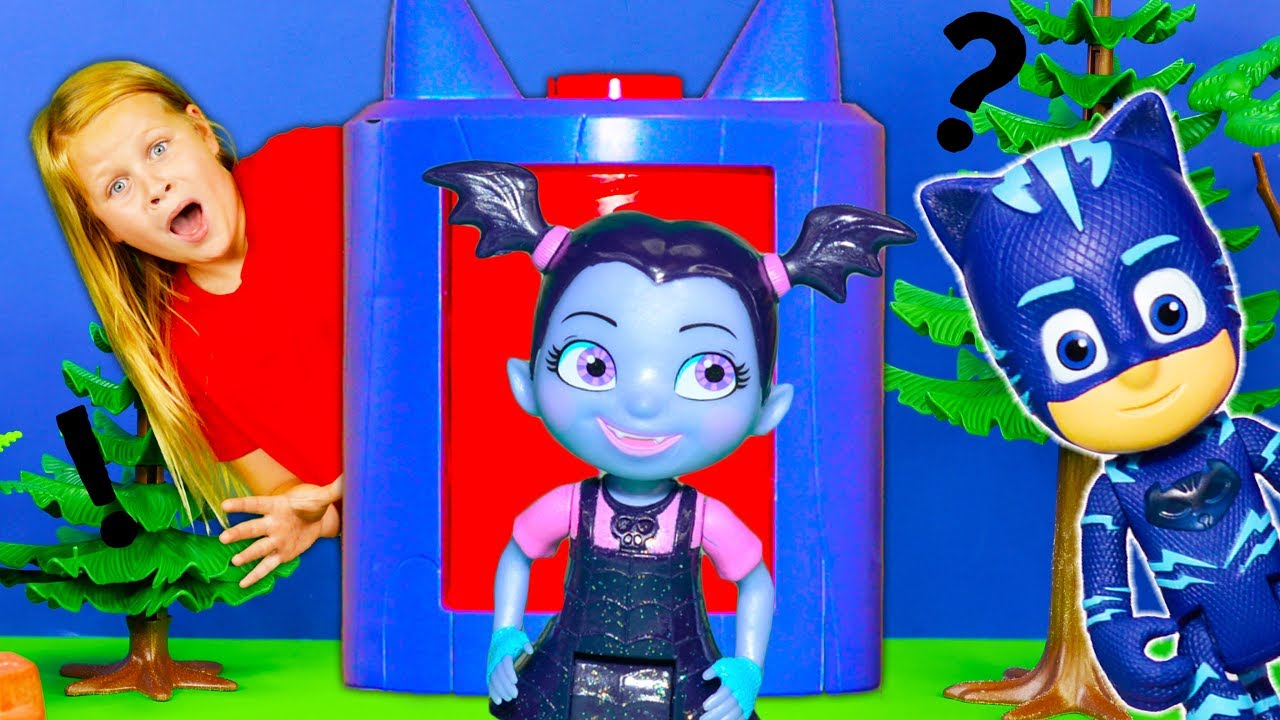 Vampirina and PJ Masks Play in the Transforming Towers