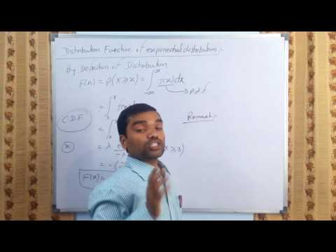 Exponential Probability distribution in hindi