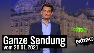 Extra 3 vom 20.01.2021 mit Christian Ehring