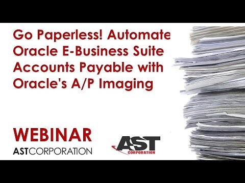 Go Paperless Automate Oracle E Business Suite Accounts Payable With