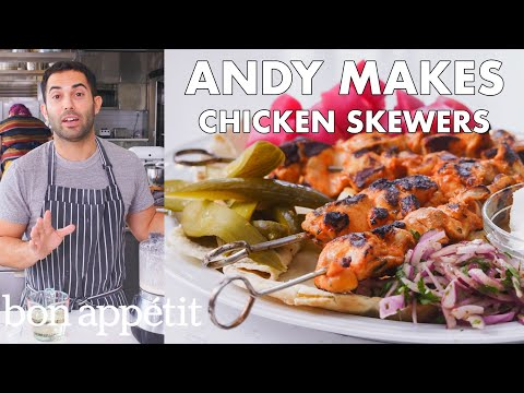 Andy Makes Chicken Skewers | From the Test Kitchen | Bon Apptit