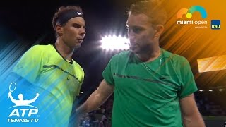 nadal fognini through to semis   miami open 2017 highlights day 8