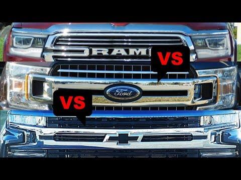 2019 Ford F-150 vs 2019 Chevy Silverado vs 2019 Ram 1500-Comparison
