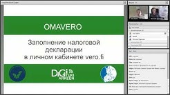 Заполнение налоговой декларации на сайте Omavero/ Veroilmoitus verkossa