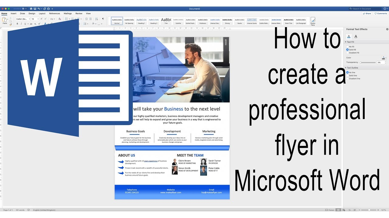 How To Create A Poster In Word Make A Poster In Microsoft Word 2019 Msword Youtube