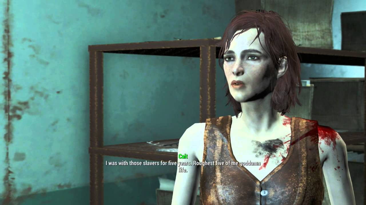 Fallout 4 - Flirting With Cait - YouTube