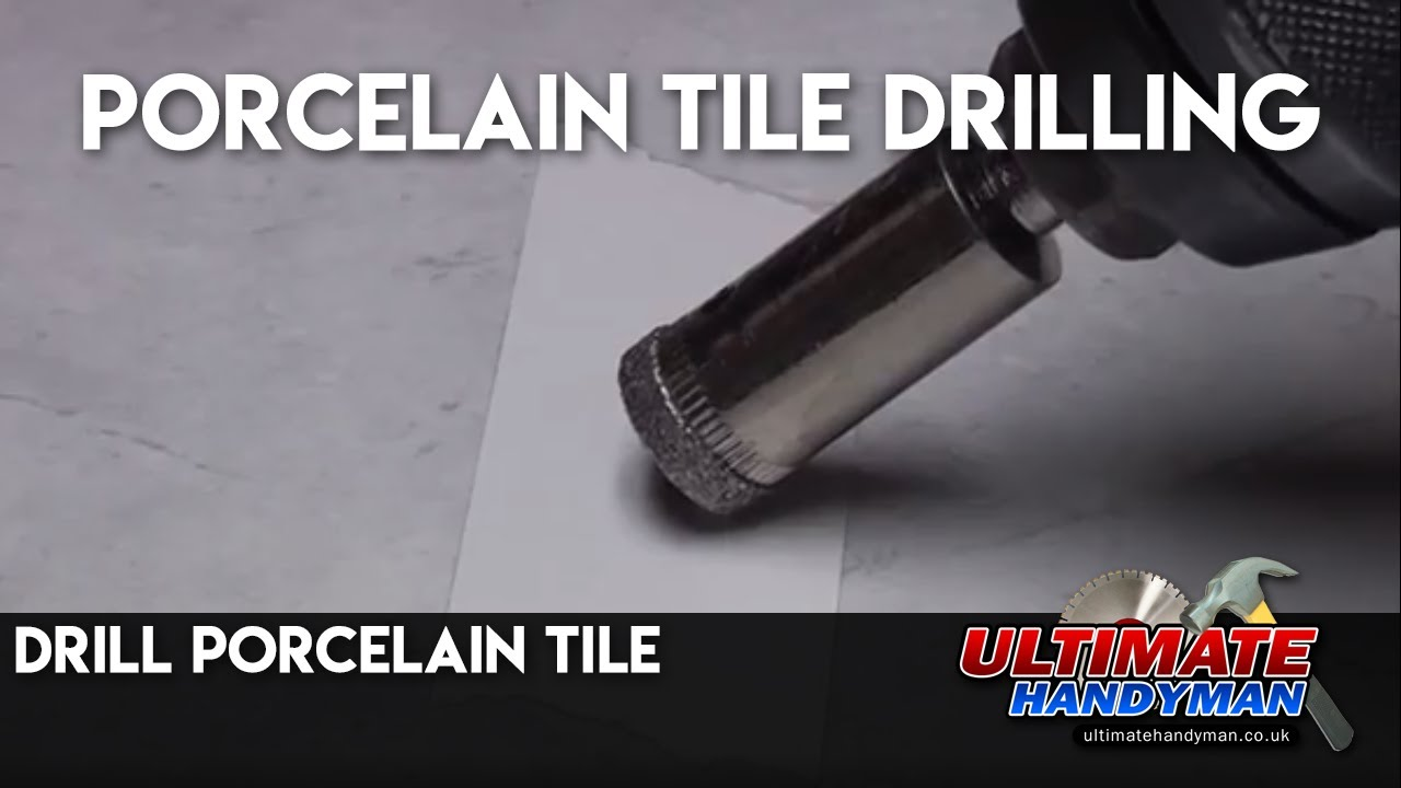 Drill Porcelain Tile Porcelain Tile Drilling YouTube - Cutting holes in tile for plumbing