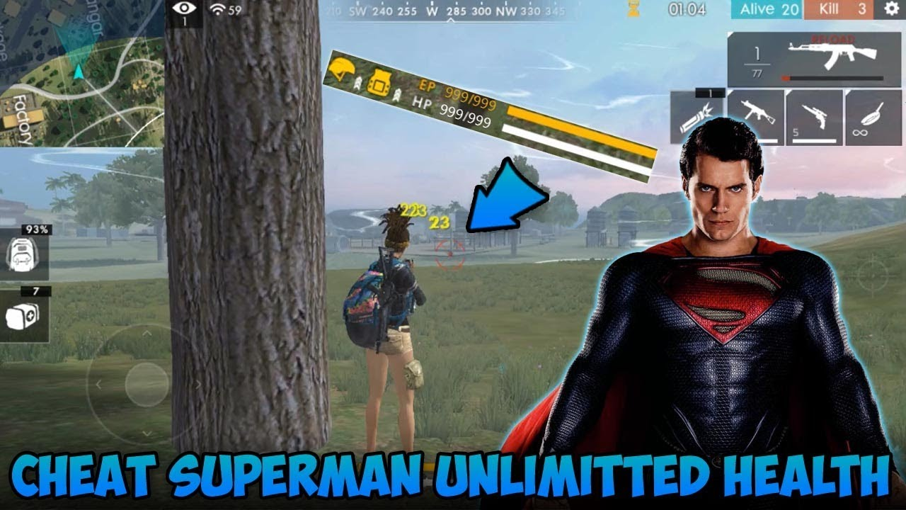 Cheat Superman! Kebal Darah, Kebal Peluru !? - Garena Free Fire