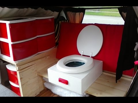 Van Tour Of Amazing Stealth Mini Van Camper With Home-Made Toilet - Living In A Van Life
