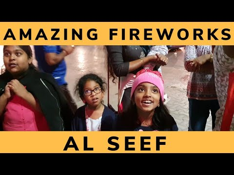 Amazing Fireworks in Al Seef Dubai | UAE National Day | Dubai Creek