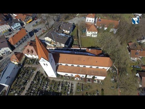Sankt Zeno in Isen von oben