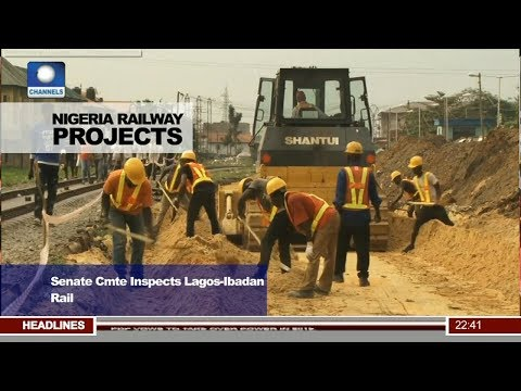 News@10: Senate Cmte Inspects Lagos-Ibadan Rail 09/08/17 Pt. 3