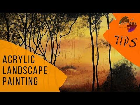 Acrylic Landscape Painting & Tips