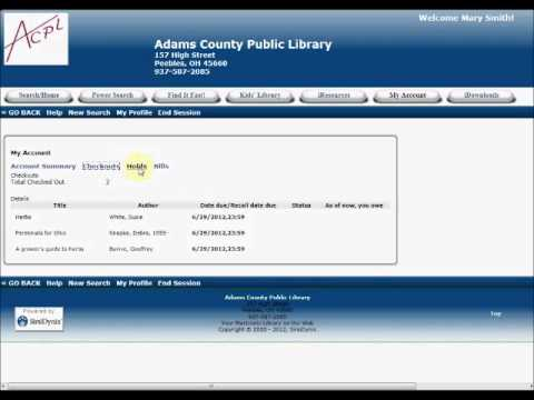 Online Catalog: Your Library Account