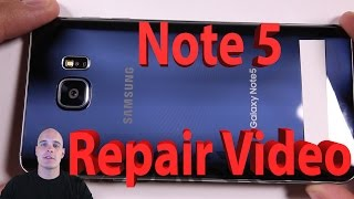 samsung galaxy note 5 screen repair charging port fix battery replacement video