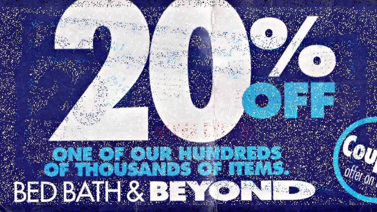 bed bath and beyond coupon - youtube