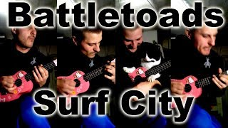 Battletoads   Surf City на укулеле