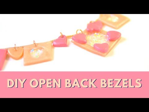 Open Bezel DIY w/ Polymer Clay & UV Resin CHARMS