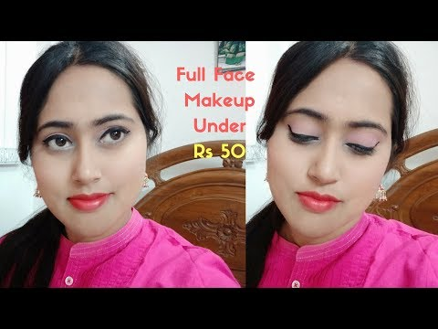 Everything Under 50 Rs Makeup  Makeup Challenge Under