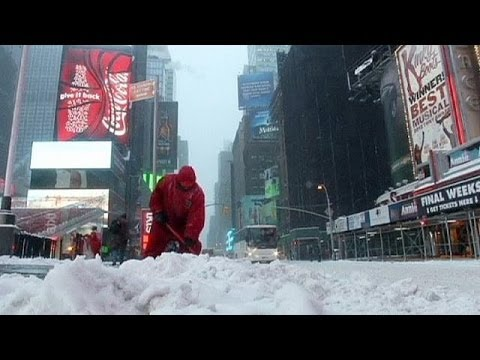 Below 20°c forecast for northeast USA as snow bites deep