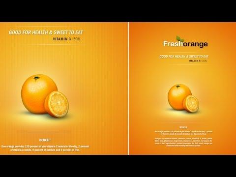 Photoshop Tutorial Clean And Minimal Poster Fresh Orange