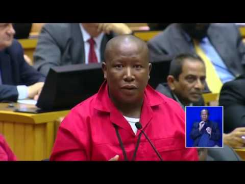 Malema Questions Zuma on nkandla