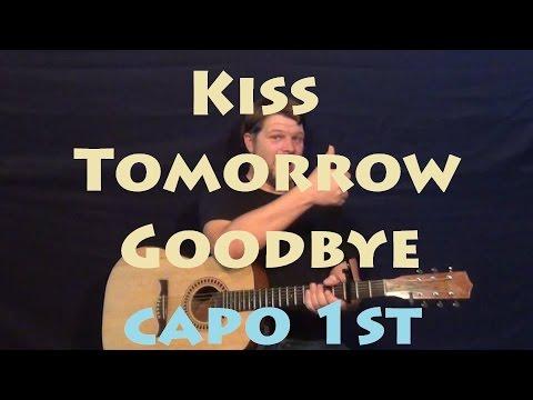 Kiss Tomorrow Goodbye (Luke Bryan) Guitar Lesson Easy Strum Chords How to Play Tutorial